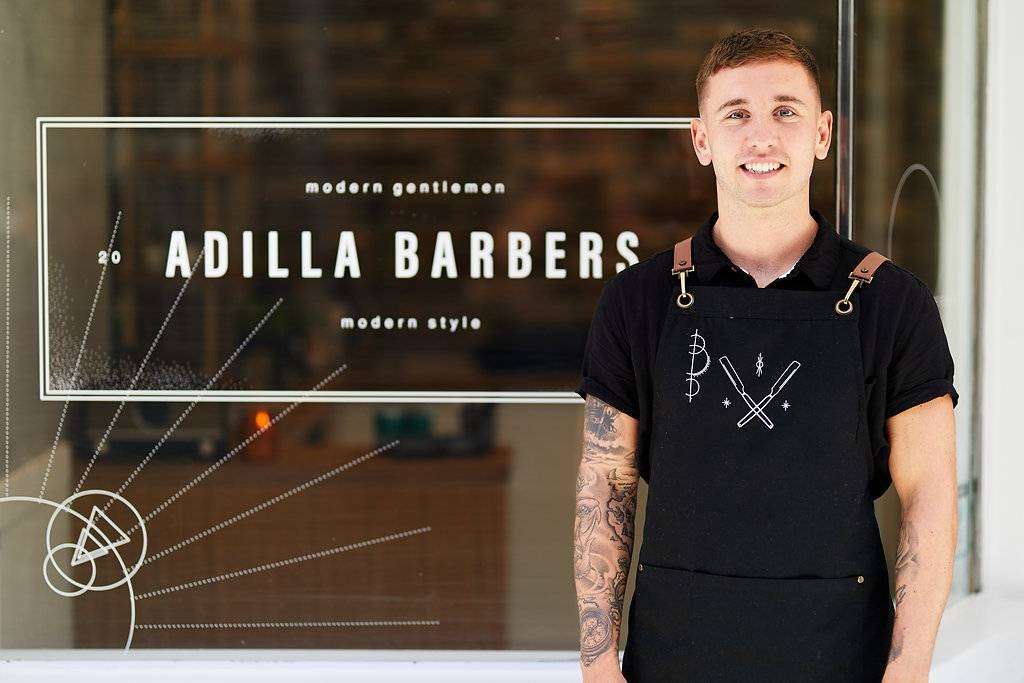 Adilla Barbers Double Bay Banner